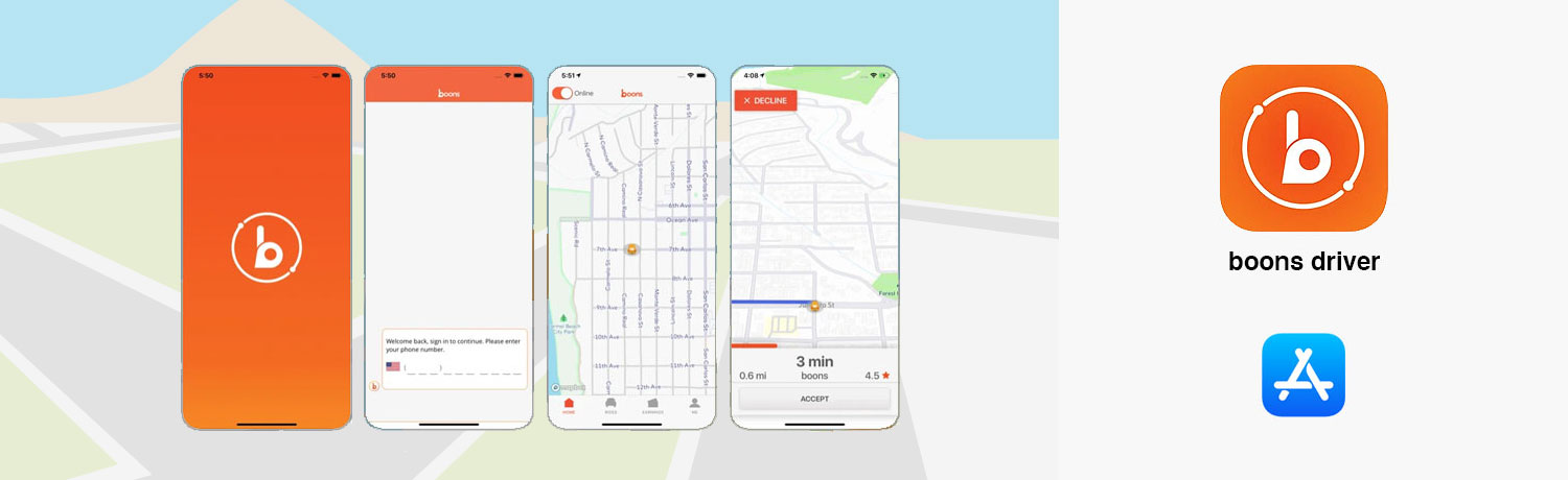 boons Driver Mobile App